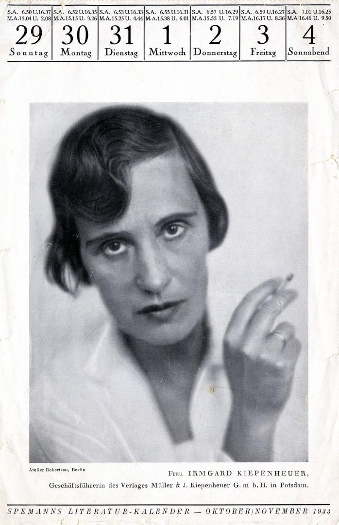 Irmgard Kiepenheuer und das Bauhaus}