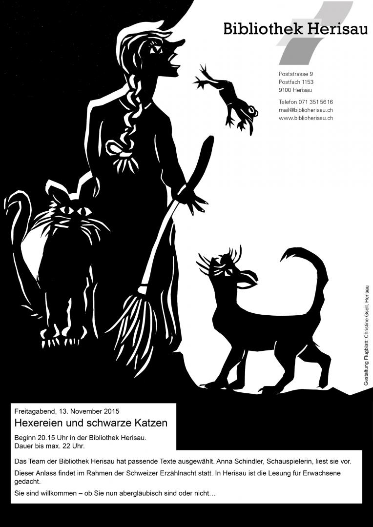 Freitag, der Dreizehnte: Hexereien und schwarze Katzen, Bibliothek Herisau